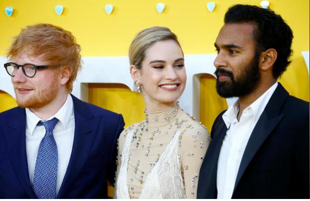 Ed Sheeran, Lily James và Himesh Patel trong buổi ra mắt phim.